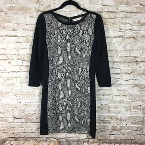 Rebecca Taylor intarsia paneled knit mini Dress 6
